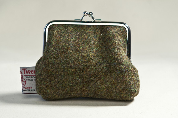 Katherine Emtage Tweed Clasp Purse - Moss Brown (2)