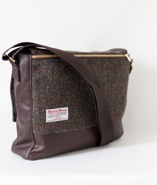 Katherine Emtage Ultimate Man Bag Brown Harris Tweed with cordura reverse1
