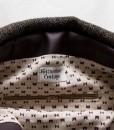 Katherine Emtage Ultimate Man Bag Brown Harris Tweed with leather inside detail