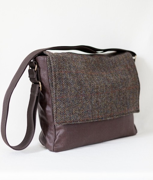 Katherine Emtage Ultimate Man Bag brown Harris Tweed with cordura