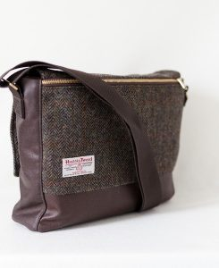 Katherine Emtage Ultimate Man Bag brown Harris Tweed with cordura reverse