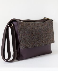 Katherine Emtage Ultimate Man Bag brown Harris Tweed with leather