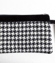 Katherine Emtage black and white houndstooth Borders tweed pochette