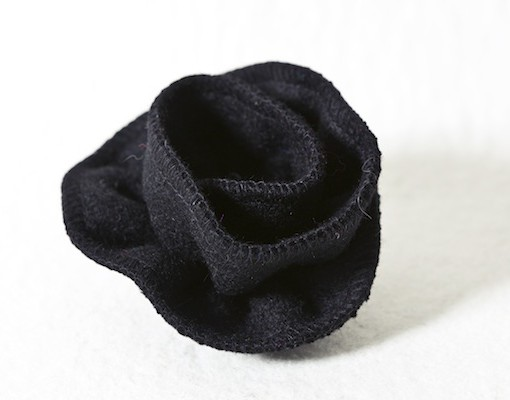 Katherine Emtage Black Corsage Harris Tweed 3