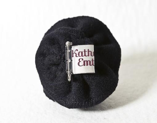 Katherine Emtage Black Corsage Harris Tweed Reverse