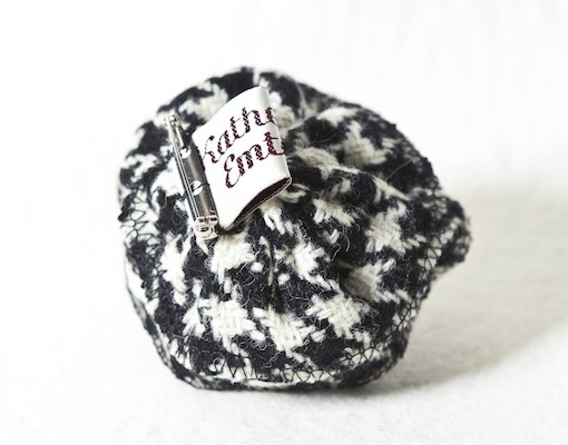 Katherine Emtage Black and White Houndstooth Corsage Reverse