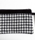 Katherine Emtage Black and White Houndstooth Pochette Borders Tweed
