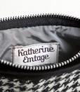 Katherine Emtage Black and White Houndstooth Pochette Borders Tweed Inside Detail