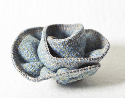 Katherine Emtage Blue Lovat Corsage Harris Tweed 4