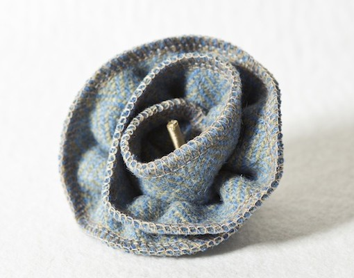 Katherine Emtage Blue Lovat Herringbone Corsage 1