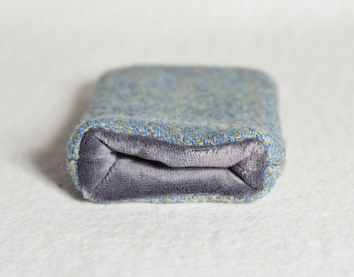Katherine Emtage Blue Lovat Phone Case Harris Tweed Grey Lining