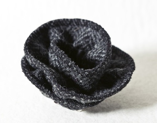 Katherine Emtage Charcoal Herringbone Corsage Harris Tweed 3