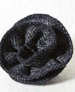 Katherine Emtage Charcoal Herringbone Corsage Hrris Tweed 1