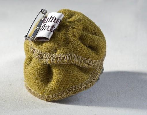 Katherine Emtage Chartreuse Corsage Harris Tweed Reverse