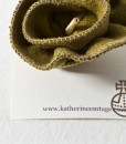 Katherine Emtage Chartreuse Corsage on card Harris Tweed 2