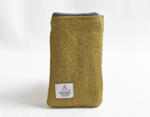 Katherine Emtage Chartreuse Phone Case Harris Tweed 2