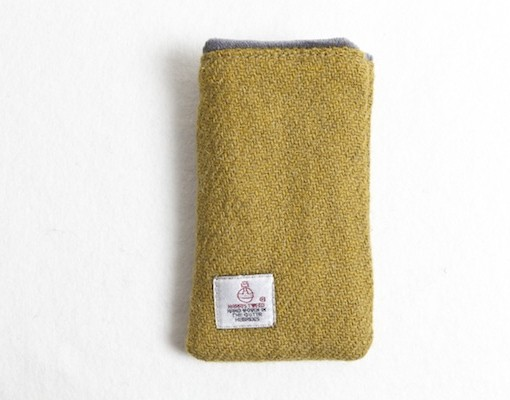 Katherine Emtage Chartreuse Phone Case Harris Tweed