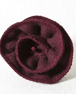 Katherine Emtage Dark Cherry Corsage Harris Tweed 1