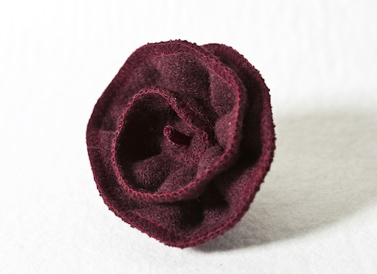 Katherine Emtage Dark Cherry Corsage Harris Tweed 2