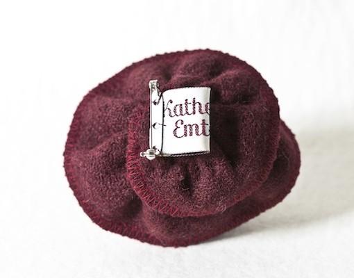 Katherine Emtage Dark Cherry Corsage Harris Tweed 3