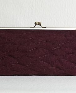 Katherine Emtage Dark Cherry Sargasso Clutch Harris Tweed