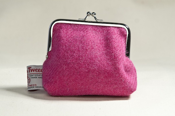 Katherine Emtage Fuschia Clasp Purse Harris Tweed