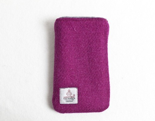 Katherine Emtage Fuschia Phone Case Harris Tweed