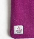 Katherine Emtage Fuschia Phone Case Harris Tweed Label Detail