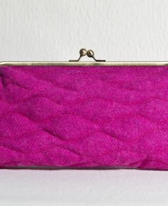 Katherine Emtage Fuschia Sargasso Clutch Harris Tweed