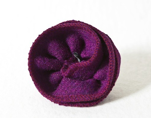 Katherine Emtage Grape Corsage Harris Tweed 1