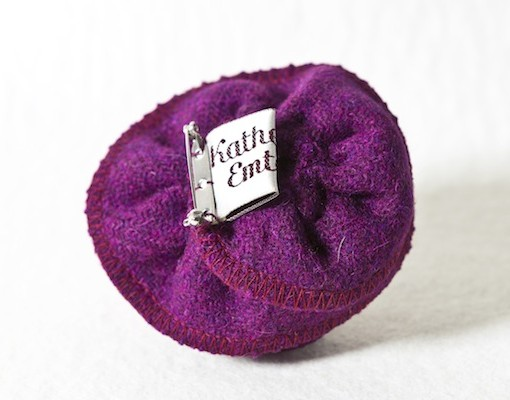 Katherine Emtage Grape Corsage Harris Tweed 3