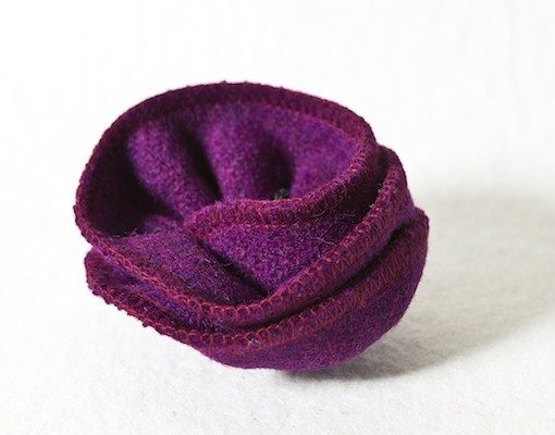 Katherine Emtage Grape Corsage Harris Tweed 4