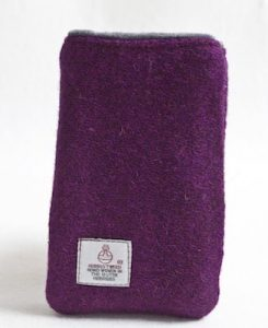 Katherine Emtage Grape Phone Case Harris Tweed 2