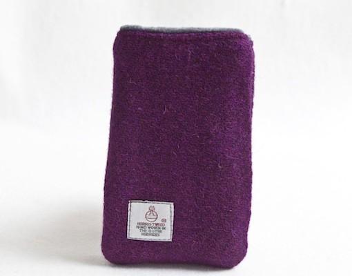 Katherine Emtage Grape Phone Case Harris Tweed 2