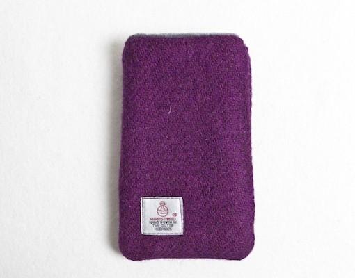 Katherine Emtage Grape Phone Case Harris Tweed