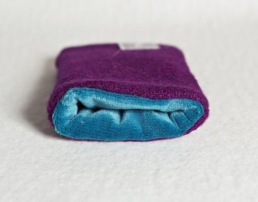 Katherine Emtage Grape Phone Case Harris Tweed Blue Lining