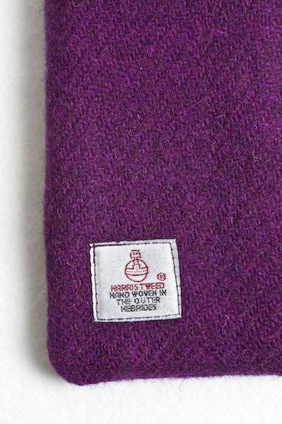 Katherine Emtage Grape Phone Case Harris Tweed Label Detail