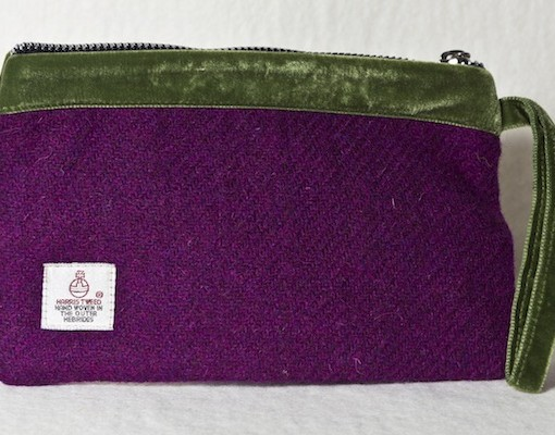 Katherine Emtage Grape Pochette Harris Tweed