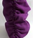 Katherine Emtage Grape Ruche Slouch Harris Tweed Side Detail