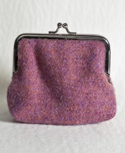 Katherine Emtage Heather Clasp Purse Harris Tweed