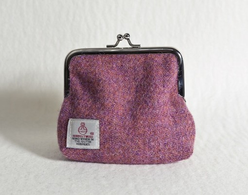 Katherine Emtage Heather Clasp Purse Harris Tweed Reverse