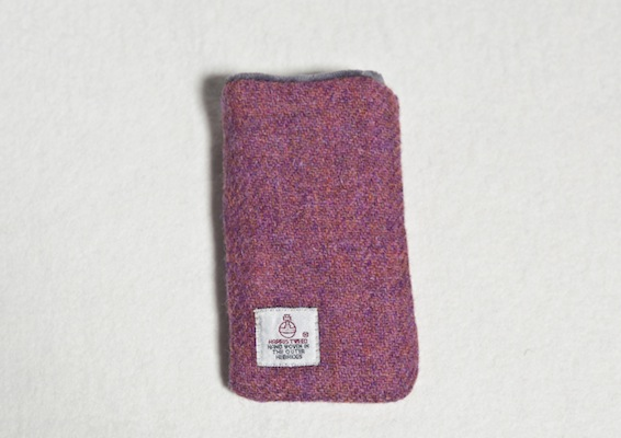 Katherine Emtage Heather Phone Case Harris Tweed Reverse