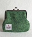 Katherine Emtage Leaf Green Clasp Purse Harris Tweed Reverse