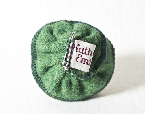 Katherine Emtage Leaf Green Corsage Harris Tweed 3