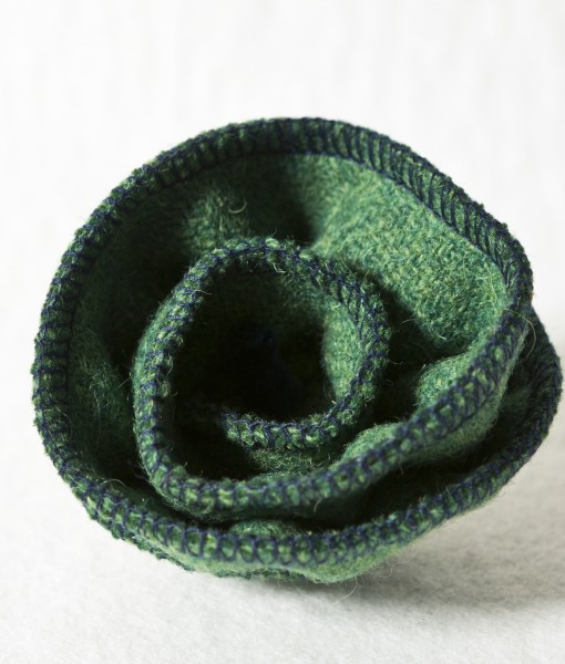 Katherine Emtage Leaf Green Corsage Harris Tweed 5