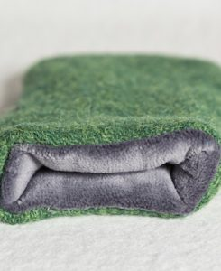 Katherine Emtage Leaf Green Phone Case Harris Tweed Grey Lining