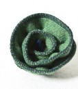 Katherine Emtage Leaf Green corsage Harris Tweed 1