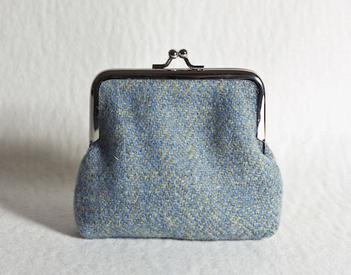 Katherine Emtage Lovat Herringbone Clasp Purse Harris Tweed