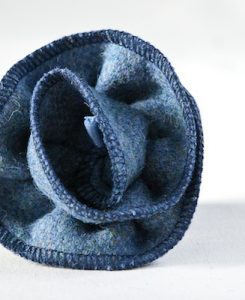 Katherine Emtage Moonlit Blue Corsage Harris Tweed 2