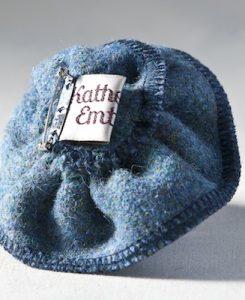 Katherine Emtage Moonlit Blue Corsage Harris Tweed Reverse